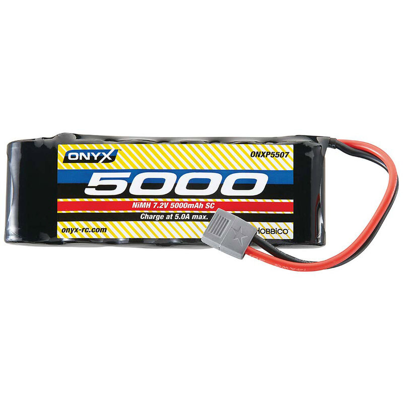 7.2V 5000mAh 6-Cell NiMH Sub-C Flat Battery: Star Plug
