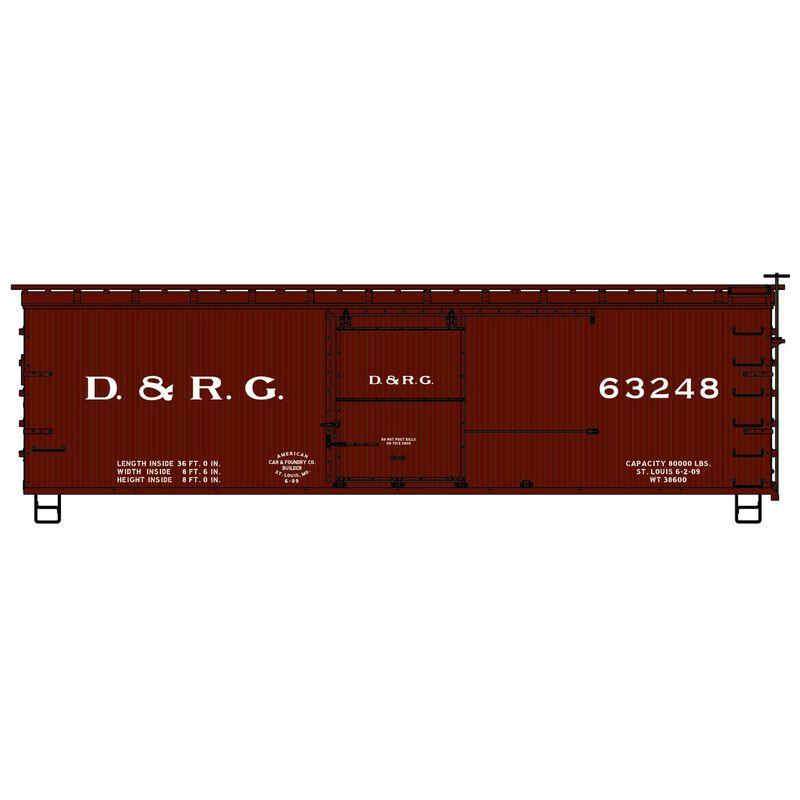 HO KIT 36' Double Sheath Box D&RGW