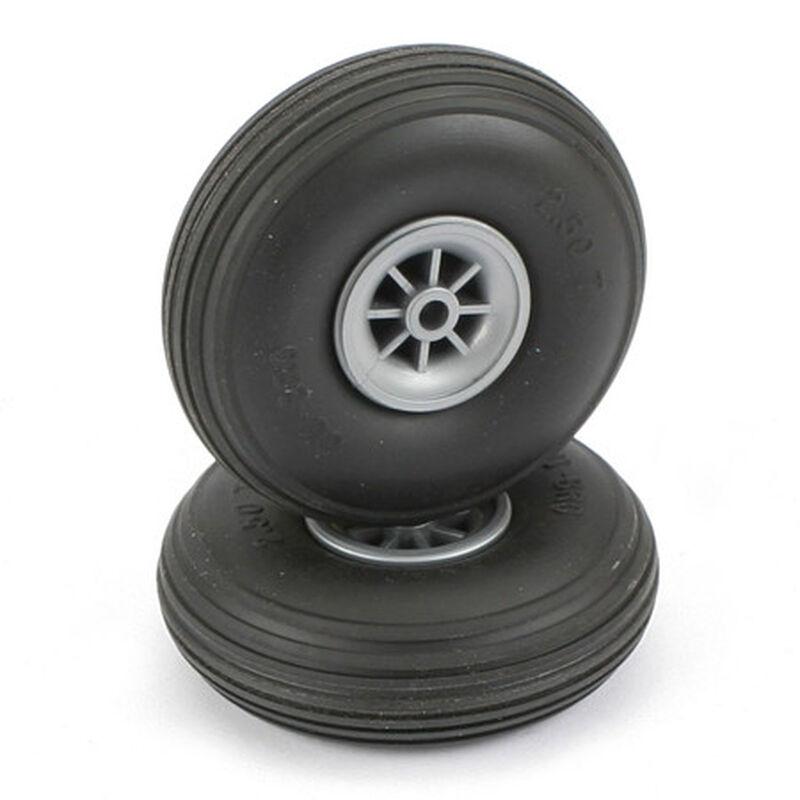 """Treaded Wheels,2-1/2"""""""