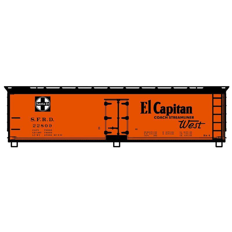 HO KIT 40' USRA Wood Double Sheathed Box SF El Capitan