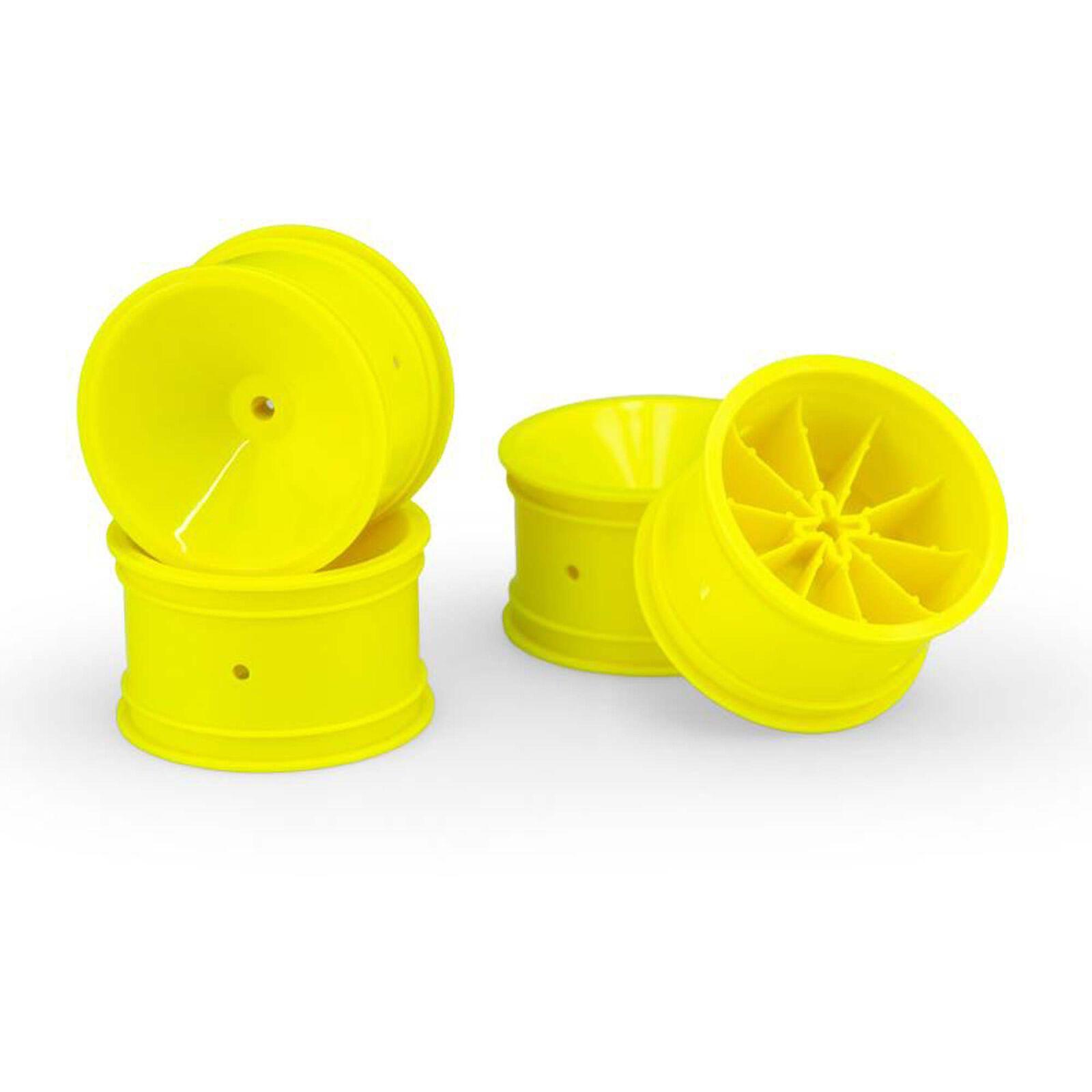 """Mono 2.2"""" Rear Wheel, Yellow (4): RC10, RC10B2, RC10B3"""