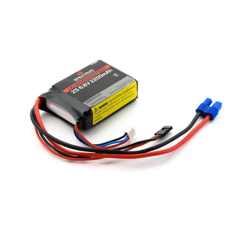 6.6V 2200mAh 2S LiFe Receiver Battery: Universal Receiver, EC3