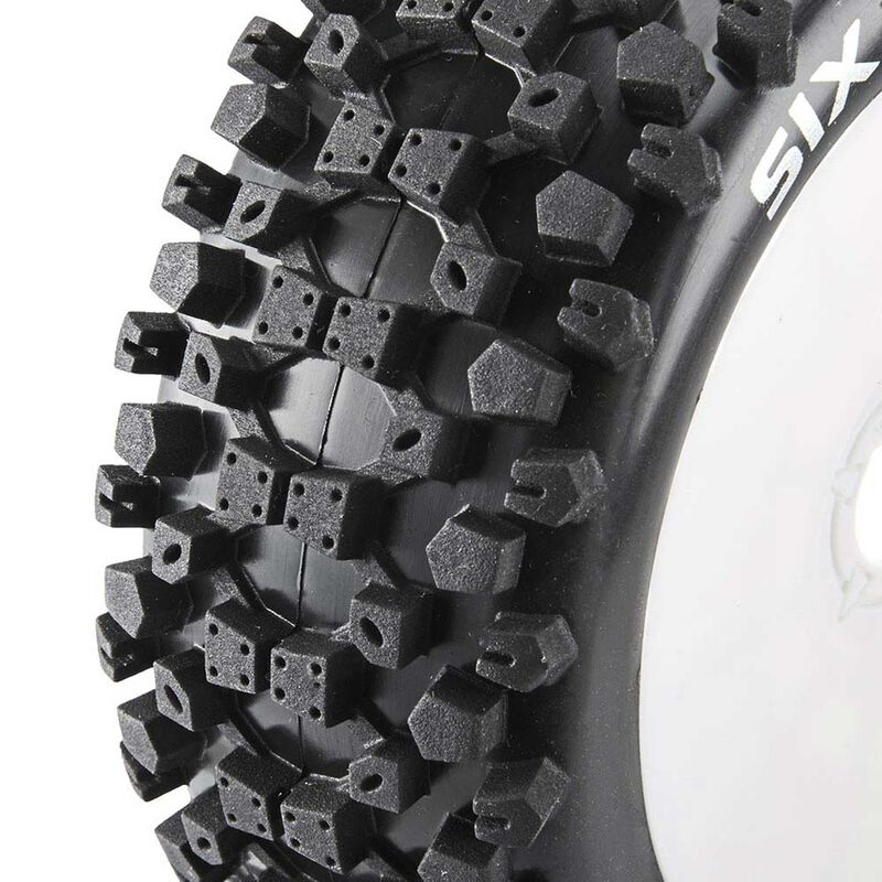 Six-Pack C2 Mounted Buggy Tires, White (2)