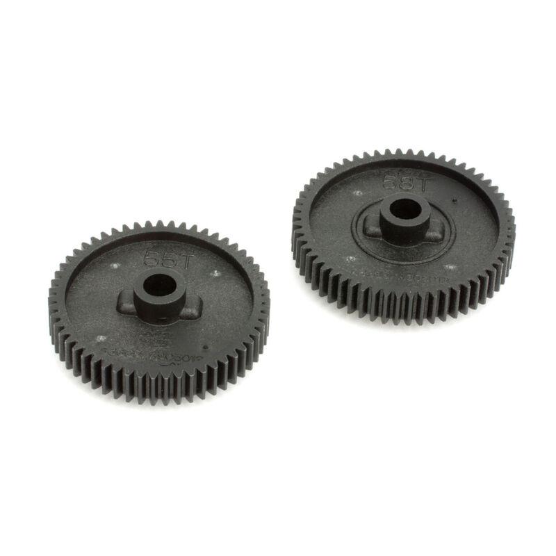 Spur Gear Set, 55T/58T: TT01