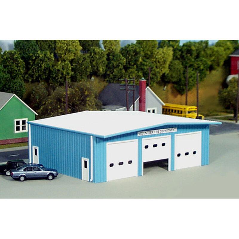 HO KIT Fire Station, Blue