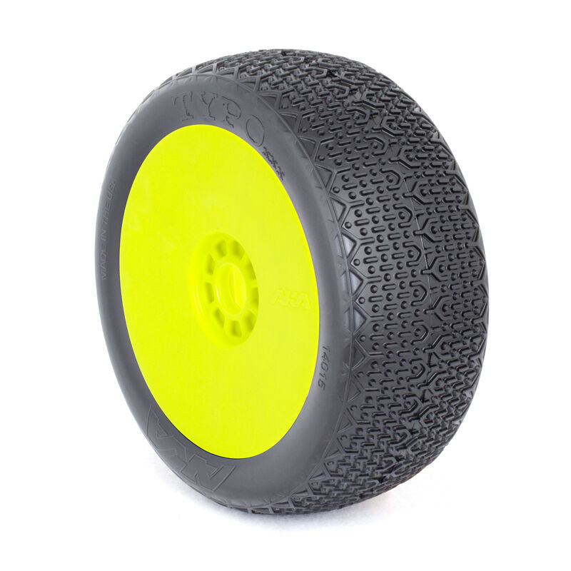 1/8 Typo EVO Clay Front/Rear Wheel Mounted, Yellow: Buggy (2)