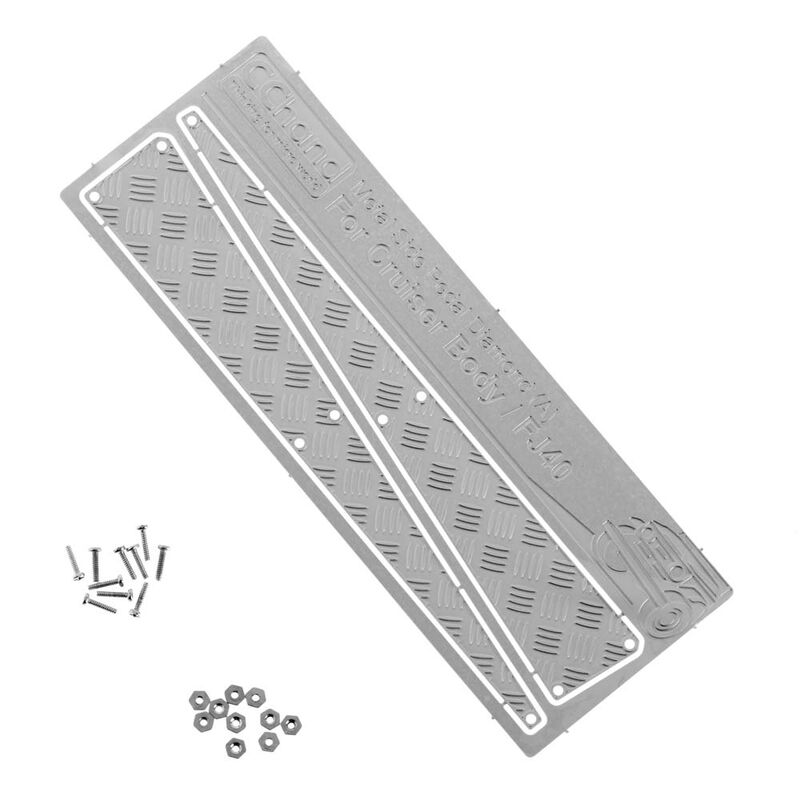 Metal Side Diamond Plates, Silver (A): Cruiser Body