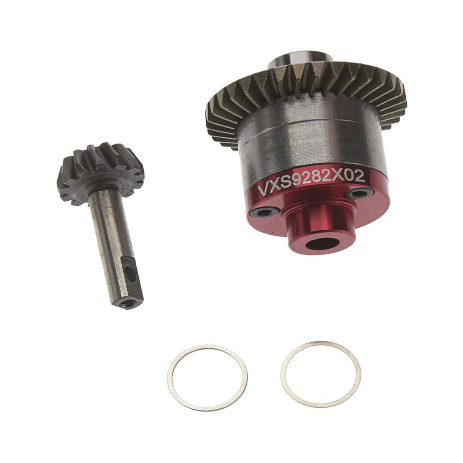 Steel Spiral Gear Set with Aluminum Cover Plate: Traxxas 1/16
