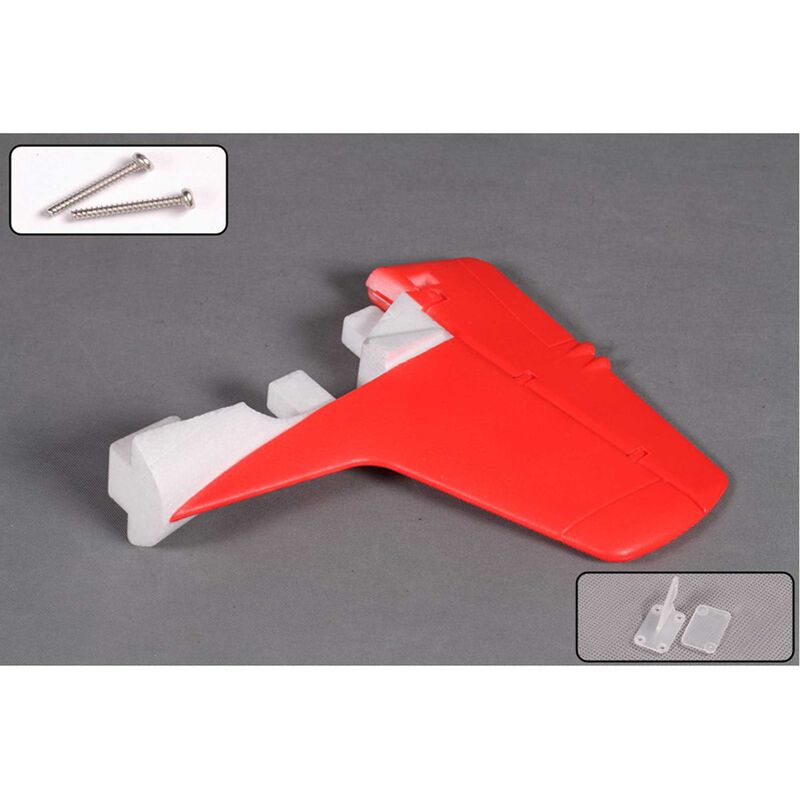 Vertical Stabilizer: 1400mm T-28 Red