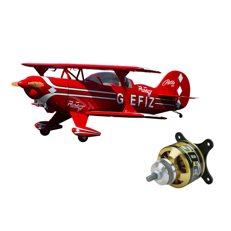 "Pitts S-2B 50-60cc, 71.6"" with Rimfire 50cc Electric Motor"
