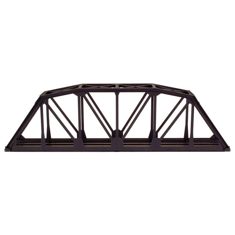 "HO KIT Code 83 18"" Through Truss Bridge, Black"