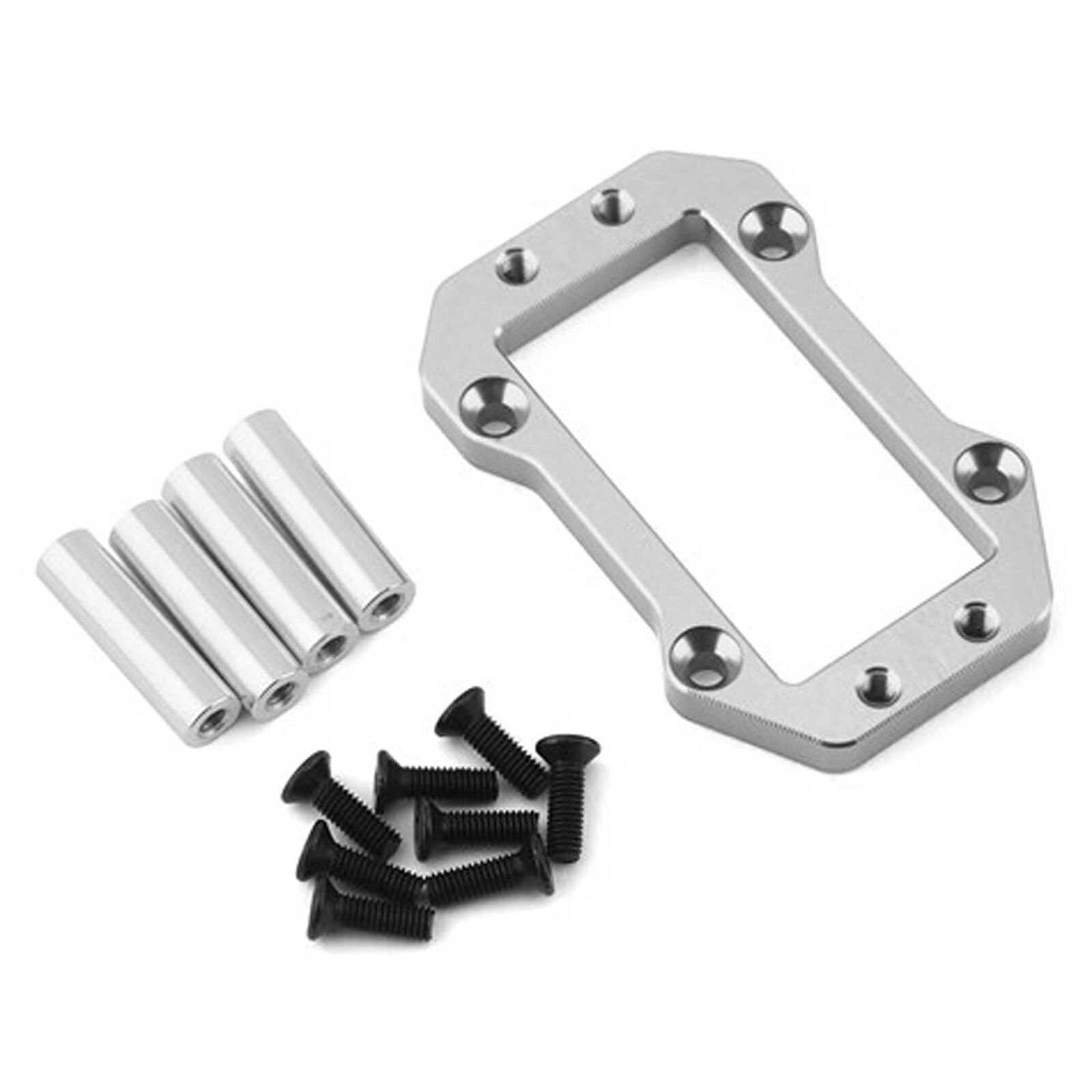 Steering Servo Mounting Plate: ARRMA OUTCAST 6S Silver