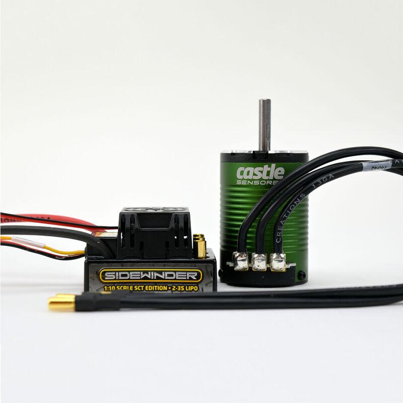 1/10 Sidewinder SCT Waterproof ESC/1410-3800Kv Sensored Brushless Motor Combo: 4mm Bullet