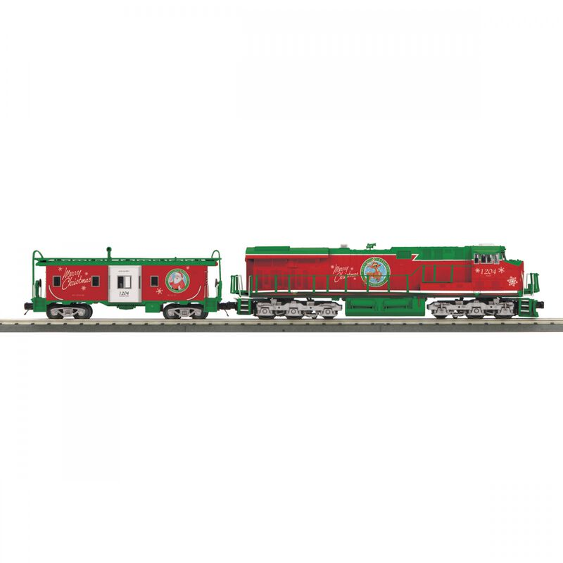 O-27 Imperial ES44AC & Caboose PS3 Christmas Red/Green