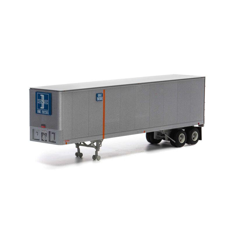 HO RTR 40' Fruehauf Z-Van Trailer B&M #202381