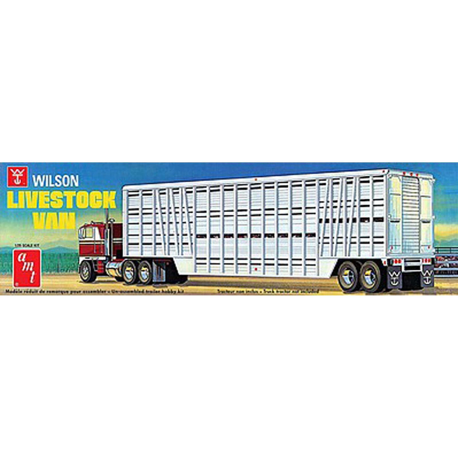 1/25 Wilson Livestock Van Trailer, Model Kit