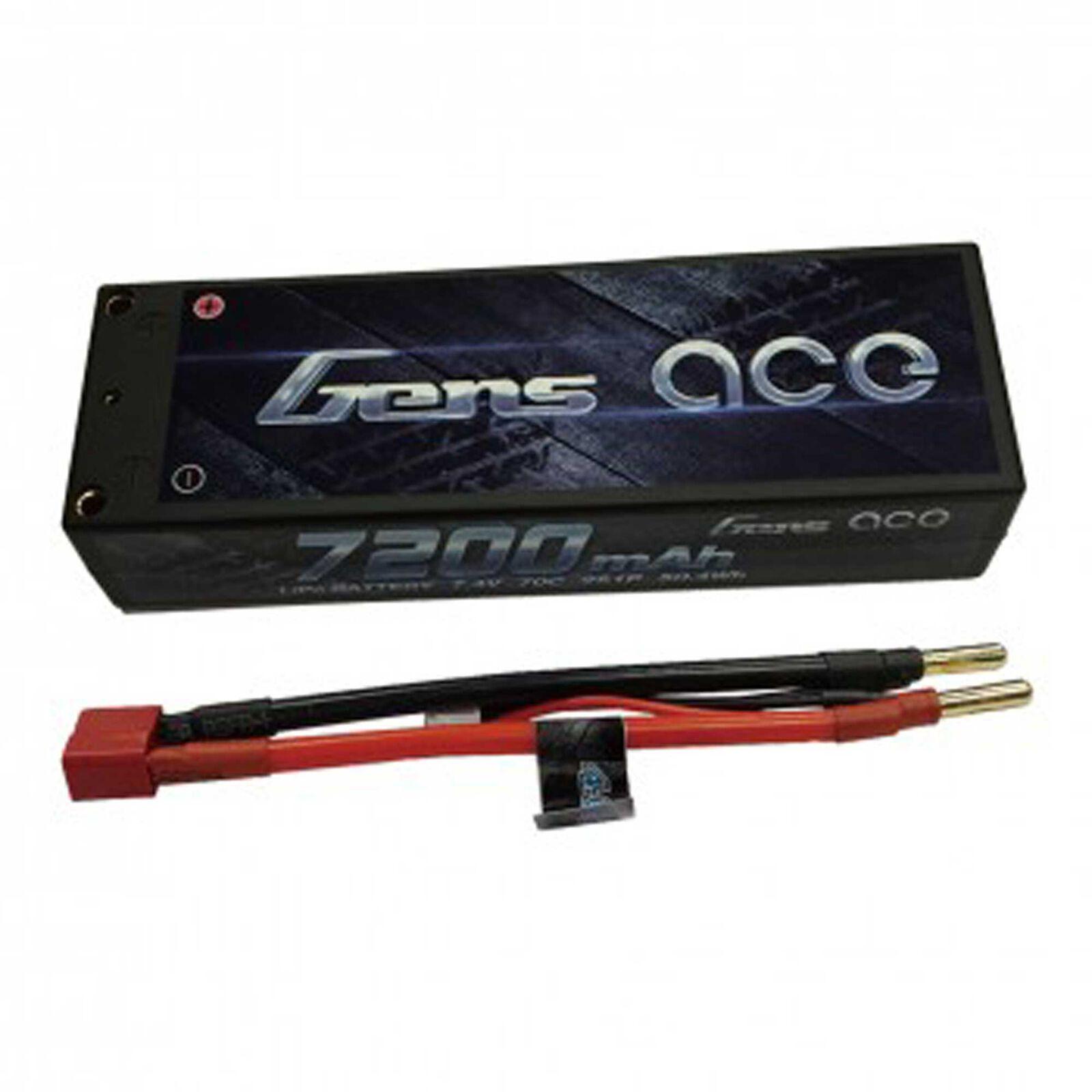 7.4V 7200 Capacity 2S Voltage 70C LiPo, Deans