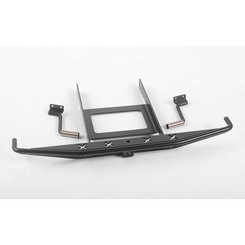 Metal Rear Bumper with Exhaust Tips: SCX10 II Blazer Black
