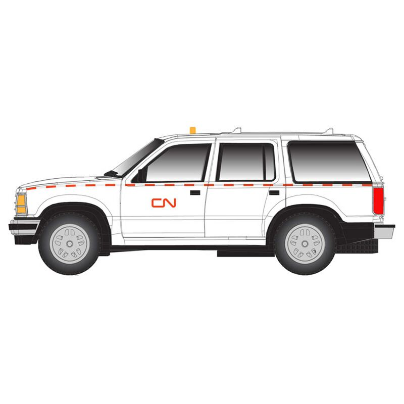 HO Ford Explorer Canadian Nationa, White/Red )