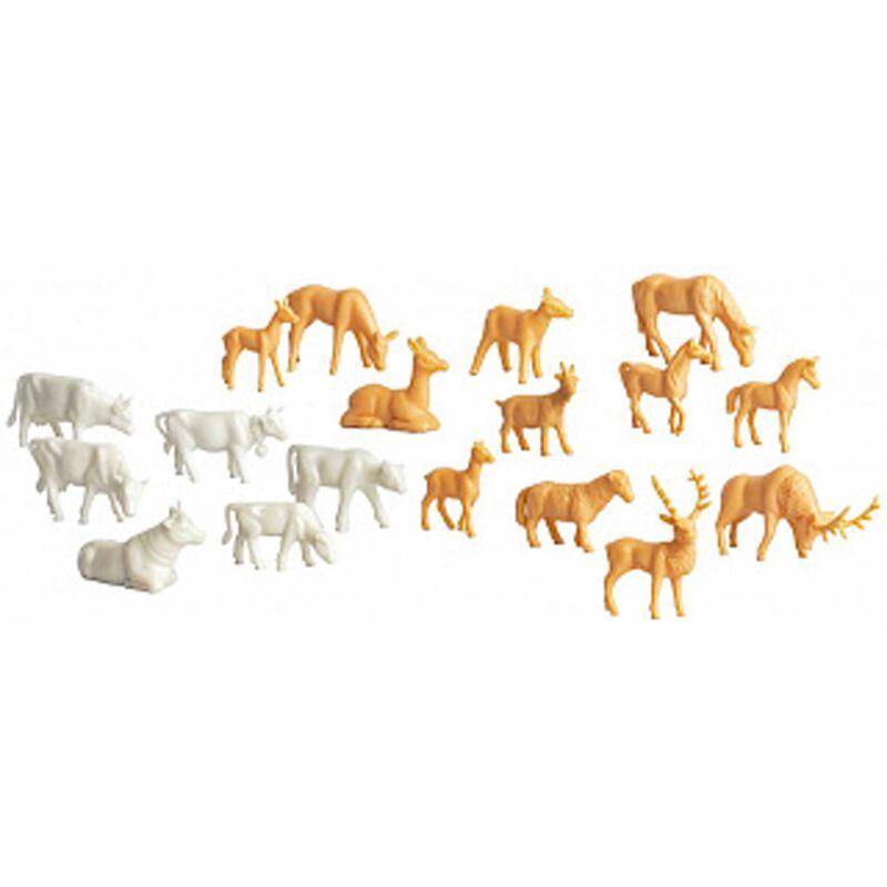 Unpainted Animals 36-Pack