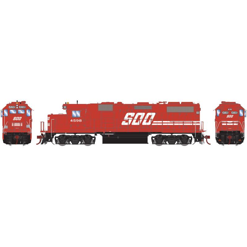 HO GP39-2 SOO Red #4598