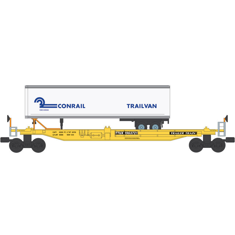 O Williams Front Runner with Trailer, Conrail