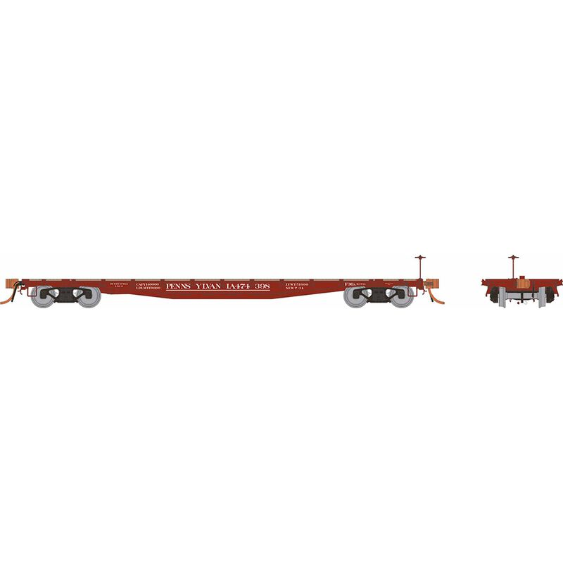 HO F30A 50' Flat Car: PRR Delivery - 6-Pack
