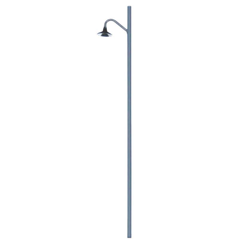 HO Lighting System Curved Hi-Hat Metal Pole