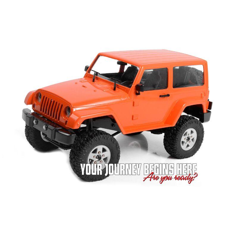 1/18 Gelande II RTR with Black Rock Body Set, Orange