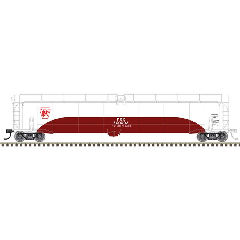 O Tank Car Pennsylvania Railroad 500002 500010
