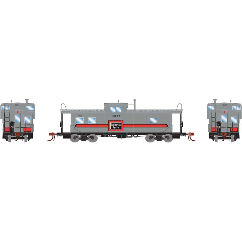 HO ICC Caboose with Lights CB&Q #13614