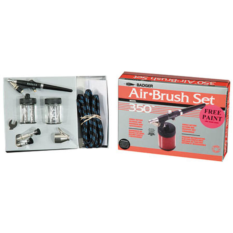 350 Airbrush Set with 3 Heads (F, M, H)
