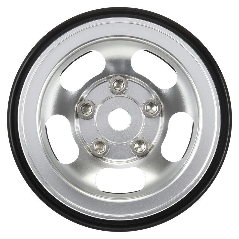 "1/10 Slot Mag Aluminum Front/Rear 1.55"" 12mm Rock Crawler Wheels (2)"