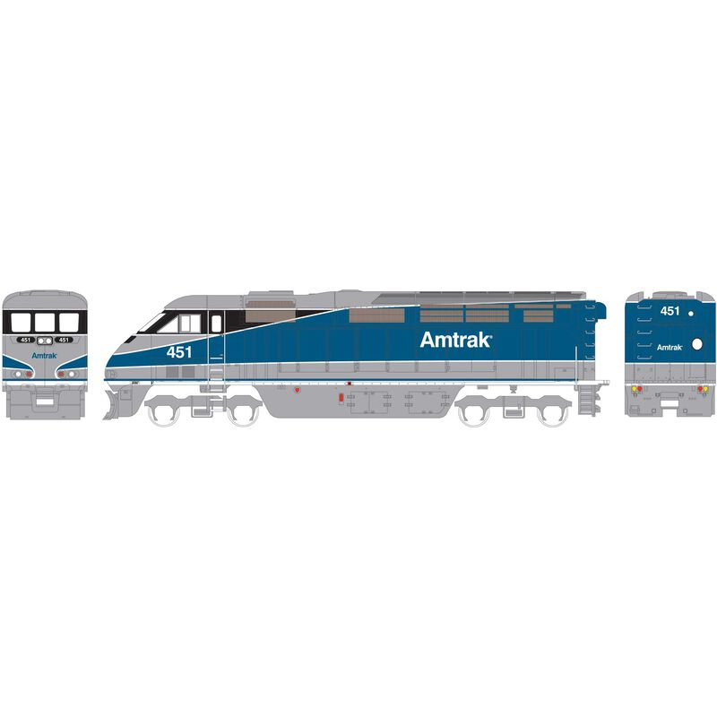 N F59PHI with DCC & Sound Amtrak #451