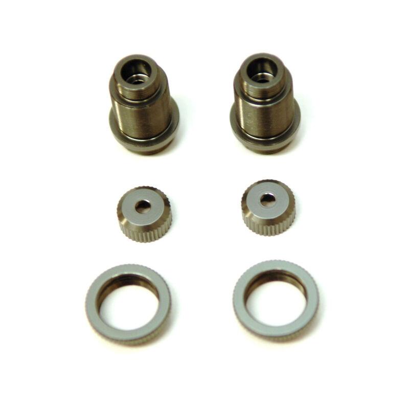 Aluminum Thread Shock Bodies Aluminum Collar, Gun Metal: 4Tec 2.0