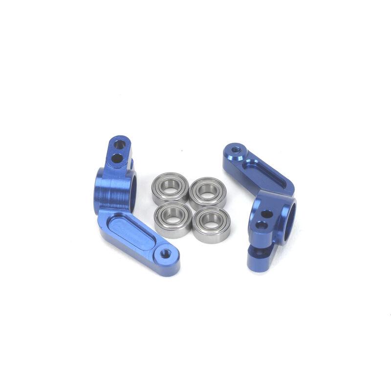 Oversize Aluminum Rear Hub, Blue: Stampede, Rustler, Bandit, Slash