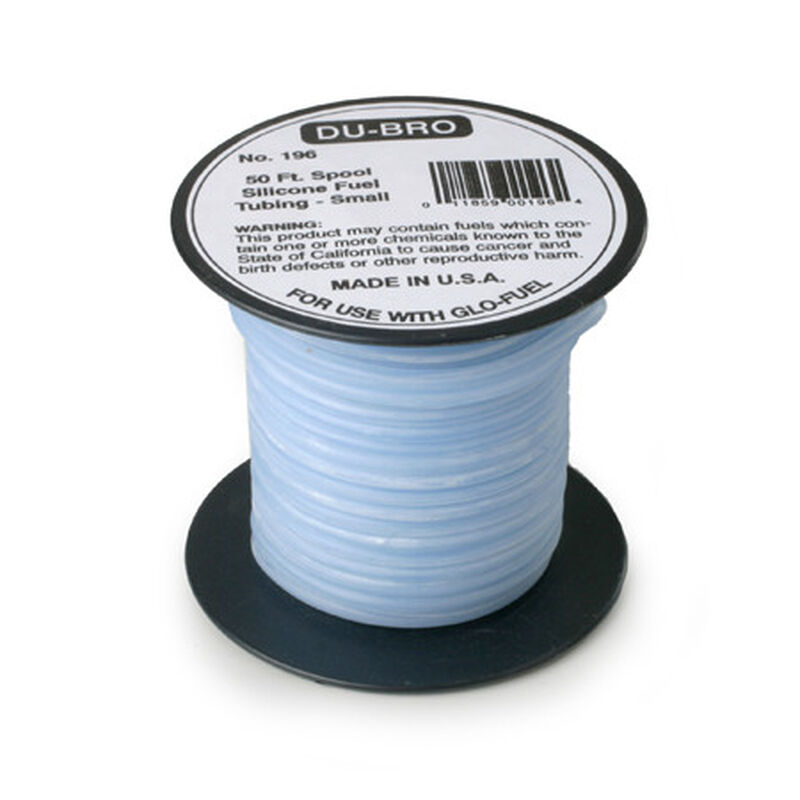 Silicone Fuel Blue Tubing, Small, 50'