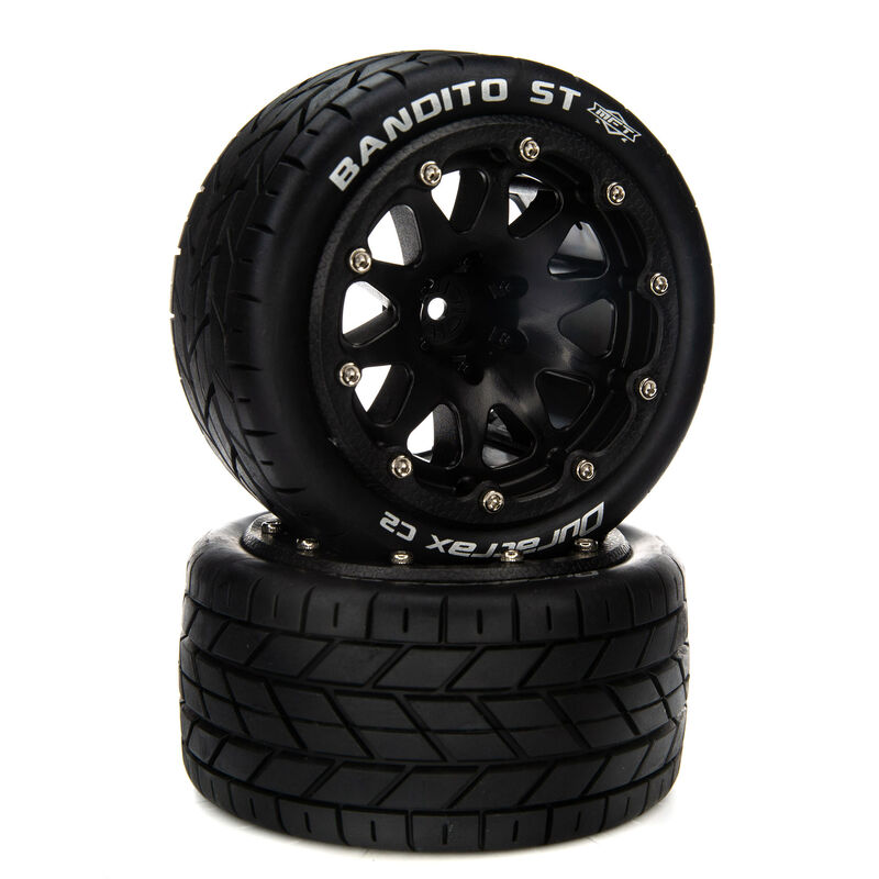 """Bandito ST Belted 2.8"""" Mounted Front/Rear Tires, 14mm Black (2)"""