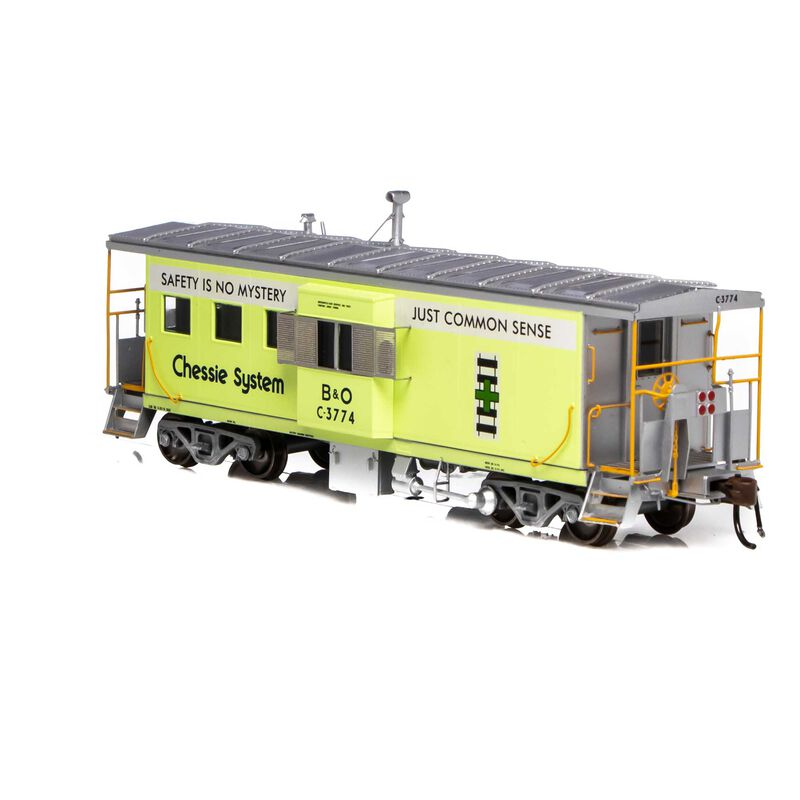 HO ICC Caboose with Lights & Sound B&O Chessie Green #C-3774