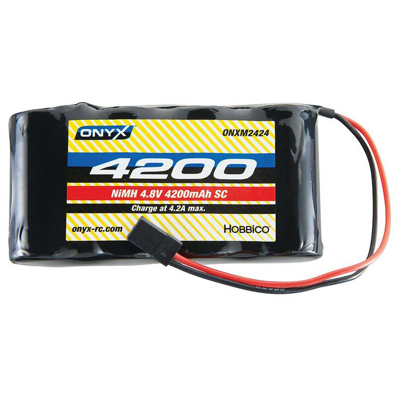 4.8V 4200mAh Sub-C NiMH Flat Receiver Battery: Universal Receiver