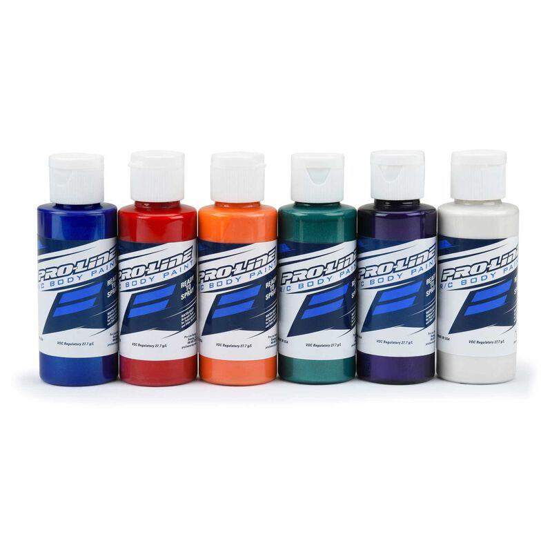 RC Body Paint, All Pearl Set (6 Pack)
