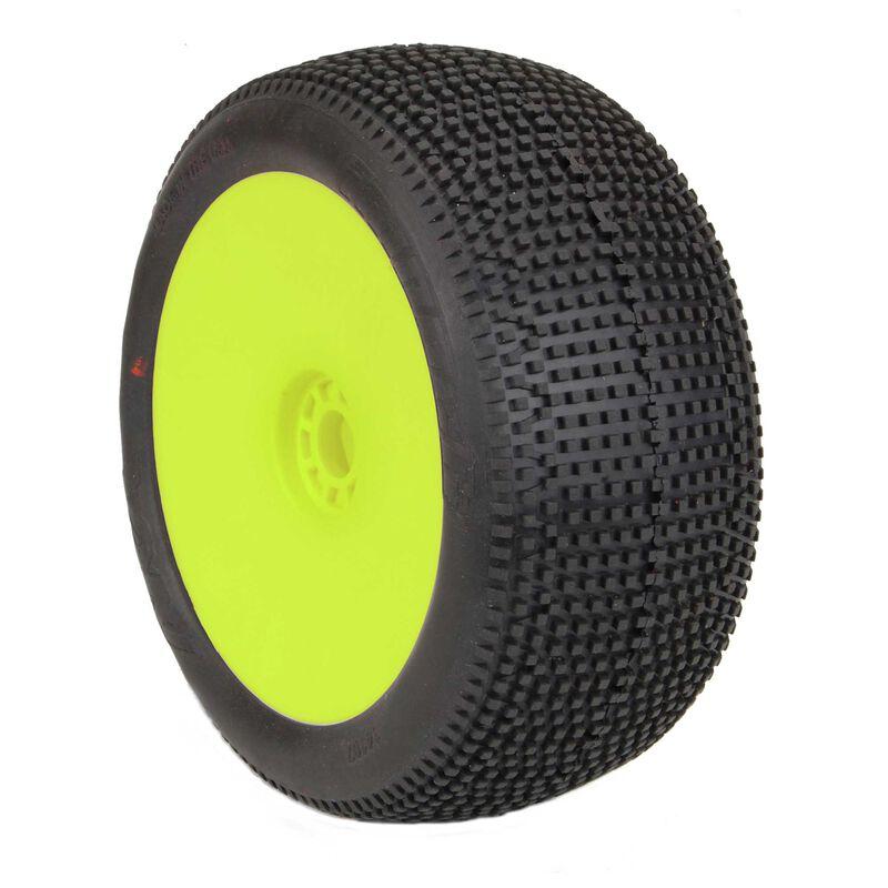 1/8 IMPACT EVO Super Soft Longwear Front/Rear Wheel, Yellow: Truggy (2)