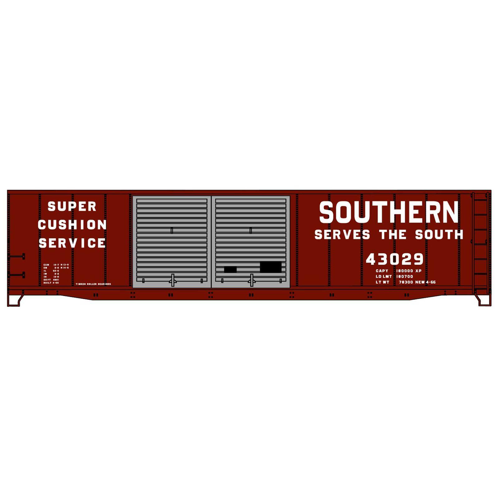 HO KIT 50' AAR Double Door Steel Box SOU