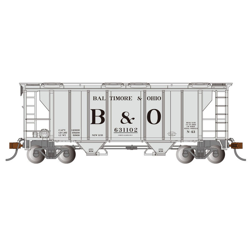HO PS-2 2-Bay Covered Hopper B&O