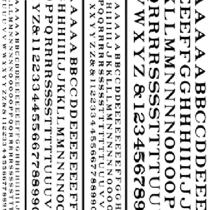 Railroad Roman Letters, Black