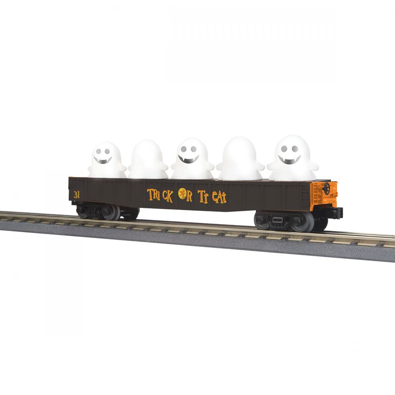 O-27 Gondola with Flickering Lighted Ghosts