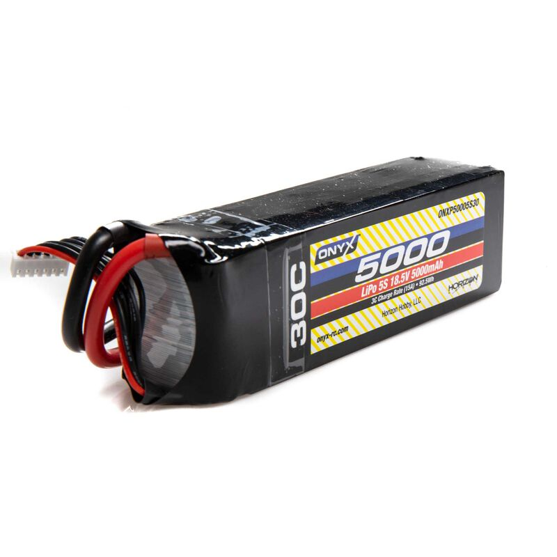 18.5V 5000mAh 5S 30C LiPo Battery: EC5