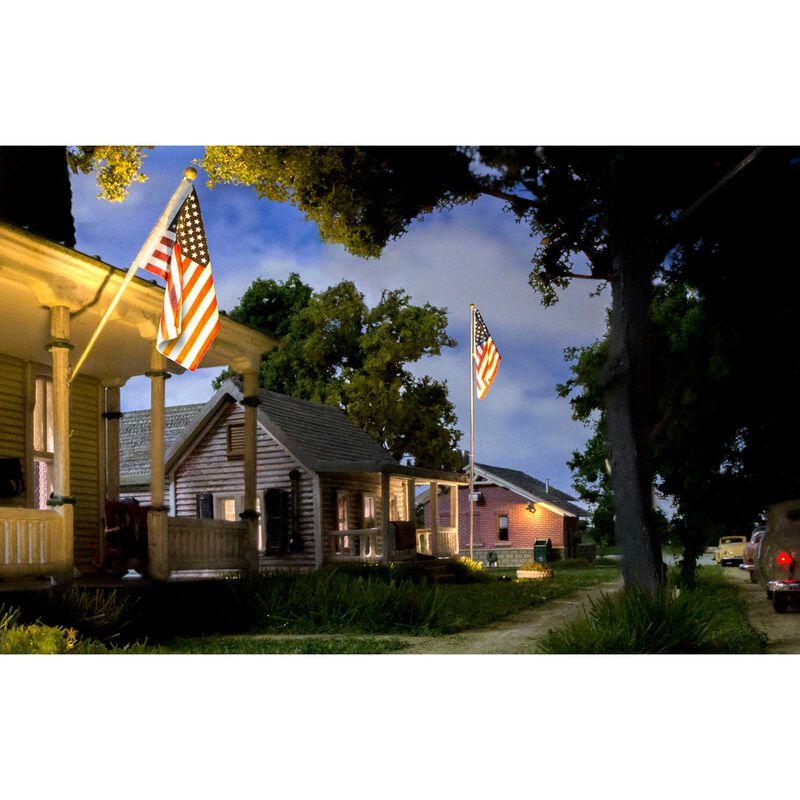 Large US Flag Pole