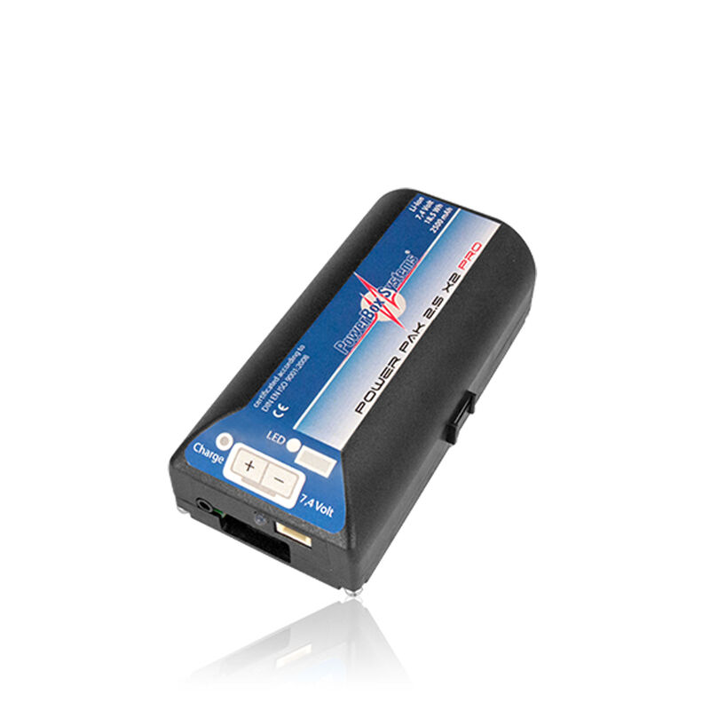 PowerPak 2.5X2 2500mAh PRO Li-Ion Receiver Battery and Mount
