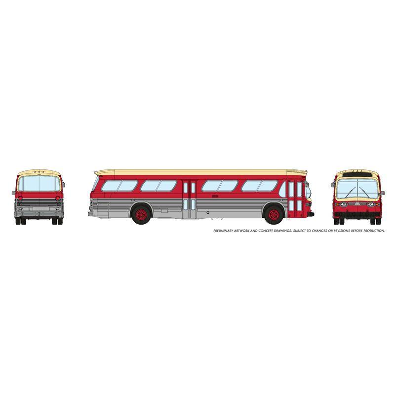 N 1/160 New Look Bus - Toronto (Maroon)